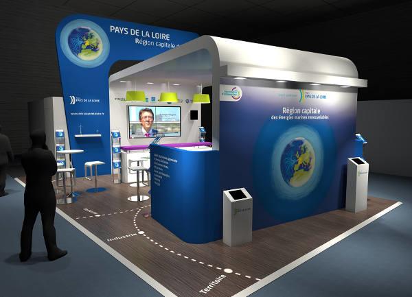 Le stand des Pays de la Loire à Thétis 2014